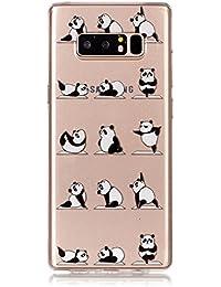 para Samsung Galaxy Note 8 la Cubierta de la Caja del teléfono, HengJun Ultra Delgado TPU 3D en Forma de Tridimensional Relieve Escultura para Samsung Galaxy Note 8 - Yoga Panda