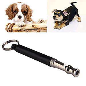 Sifflet pour chien Puppy formation ultrasonique Pitch son réglable Lanyard Porte-clés