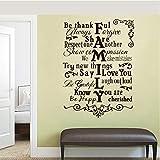 wmyzfs Famille Anglais Vinyle Sticker Mural devis Stickers Lettrage Amovible Mural Art Papier Peint Salon Chambre Home Decor 56x78 cm...
