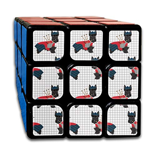 4262be96fae vintage cap Scottie Dog with Bagpipes - Cute Scottish Terrier Design Tartan  Customized Speed Cube 3x3