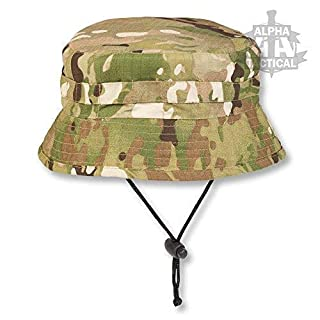 Alpha Tactical Special Forces Short Brimmed Boonie Hat (MTP/Multicam, MEDIUM)