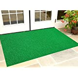 Kuber Industries™ Dirt Rubb Off Clean Footwear PVC Thick Doormat for Offices,Hotel,Restaurtaurant, Home,Shop Color- Green Size : 100 cm x 60 cm x 1.5 cm (Code-D02)