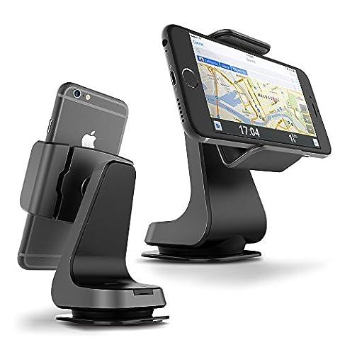 Support voiture / Auto universel, VRS Design [Hybrid Grab][Titanium] - [Rotation Ball 360°][Haute fixation à pattes][Divers angles de vues][Haute fixation] Compatible Apple et Android - Titanium