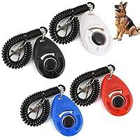 UEETEK Clicker pour Chien Clicker de dressage pour chiot/chien avec bracelet Lot de 4