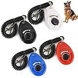 UEETEK 4 pz di addestramento di addestramento dell'animale domestico Clicker del cane con il grande tasto e la cinghia di polso per l'addestramento del cane da compagnia
