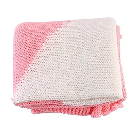 Couverture pour bébé, Mml® enfants mignon confortable en forme de cœur à tricoter Couverture Parure de lit avec couette d