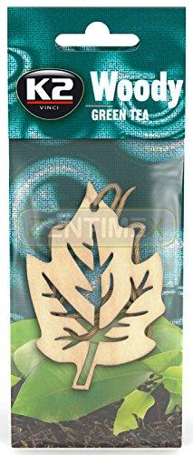 ZentimeX Holz-Duftbaum Autoduft Autoparfüm Lufterfrischer Raumduft Blatt 1Stk. Green Tea GRÜNER Tee