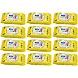 Wippee 80 N With LID Baby Wipes With Almond Oil ( Pack Of 12 )