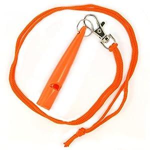 Original tameho pour dressage de chien avec sifflet Dressage pour l'éducation Formation plastique orange 210.5Sifflet simple O'Sifflet Haute Fréquence...