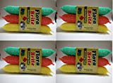 #4: 12 pcs Heavy Multi Colour Sponge Foam Pad Scrubber for cleaning Utensils ,Tiles etc .
