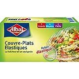 Albal 9 Couvre-Plats, Ruban �lastique, Fraîcheur et Conservation, Lot de 2
