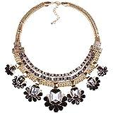 Qiyun lobigen Schwarzen Schell Aussage Gold Absolvierte Blumengirlandetorsade Reize Halskett Halskette