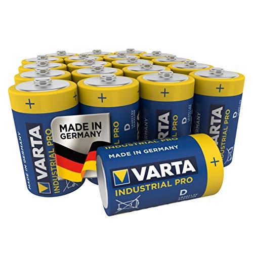 VARTA Industrial - Pilas alcalinas D / LR20 / Mono (pack de 20...