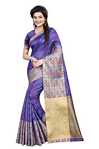 Goldi Fashion Women\'s art silk Saree (multicolor)