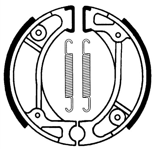 MALOSSI Mâchoires de frein Brake Power, T16, avant & arrière, 95 x 20 mm de diamètre