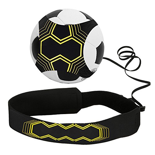 Infreecs Football Trainer Fußball Practice Solo, Fußball Training Adjustable Waist Belt für Kinder Anfänger Kick Off Trainer -