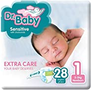 Dr.Baby Sensitive with Chamomile, Size 1, 2-5 kg, Value Pack, 28 Diapers