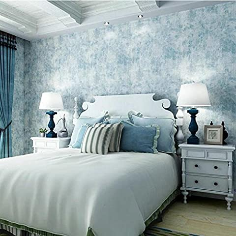 Wall papers Blue bedroom living room solid plain texture wallpaper wallpaper , light (Carta Da Parati Nero Bianco Toile Wallpaper)