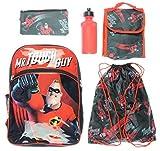 Incredibles 2zaino bambini 5PC lunch box Water Bottle Cinch bag School set