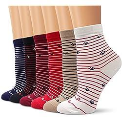 Calcetines Set, Ambielly calcetines de calidad calcetines de las muchachas calcetines de tobillo calcetines de algodón diseños ricos - Casual calcetines cómodos (6 Pares Gato&Garras)