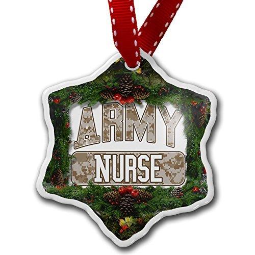 Neuheit Weihnachtsschmuck Army Krankenschwester Camo Ornament Craft Crafts Xmas Tree zum Aufhängen -