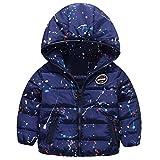 Happy Cherry Moda Chaqueta de Invierno Acolchado Abrigo con Capucha Estampado Cálido Ropa Infantil Coat Outerwear para Bebés Niños