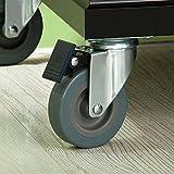 SoBuy® Luxus-Küchenwagen mit Edelstahltop, Küchenschrank, Kücheninsel,Schwarz, B66xT46XH92cm FKW13-SCH - 7
