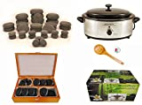 MassageMaster HOT STONE MASSAGE KIT: 36 Basalt Stones with 6.5 Quart (6.15 Litre) Hot Stone Heater