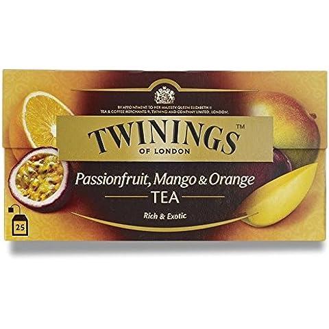 Twinings Frutto Della Passione, Mango E Tè Arancione (Blend Internazionale) 50G - 25 Buste (Confezione da 2)