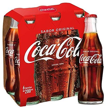 Coca Cola Regular Refresco con gas de cola 200 ml Botella de cristal