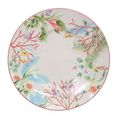 Faïencerie de Niderviller Assiette Plate Fleur de Corail Ø27,5cm faïence - Lot de 4