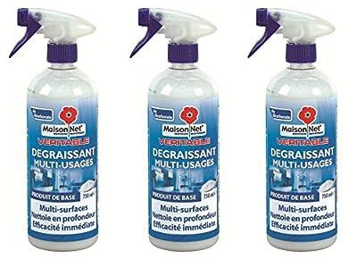 Maison Net Dégraissant au Bicarbonate Multi Usage 750 ml - Lot de 3