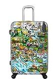 Koffer, Reisegepäck, Trolley by Heys - Premium Designer Hartschalen Koffer - Künstler Fazzino World Handgepäck