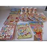 Winnie the Pooh Party Pack for 32, Tableware & Banners