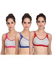 Embibo Sport Women Women Running Bra Full-Coverage Bras Blue and pink bra