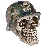 A.G.S. Deko Totenschädel Stahlhelm Schädel Halloween Gothic Camouflage Tattoostudio Skull