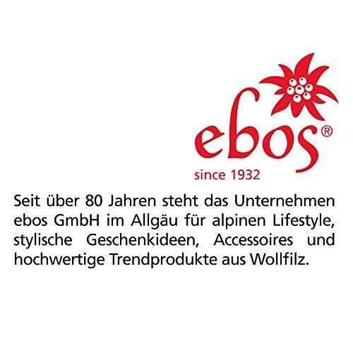 ebos Edelstahl Flachmann, 180ml ✓ Schraubverschluss ✓ Filzhülle ✓ Robust | Taschenflachmann in silber für Schnaps | Taschenflasche edel mit Hülle aus 100% Woll-Filz (Pink)