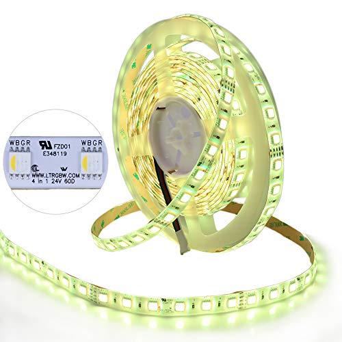LTRGBW SMD5050 DC 24V 72W 300 LEDs 4-in-1 RGBW Warmweiß LED Stripe Lichtstreifen IP65 Wasserfest LED Streifen 5M