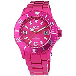 Ice-Watch Unisex Quartz Watch with Pink Dial Analogue Display and Pink Bracelet AL.PK.U.A.12