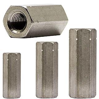 SC-Normteile Sechskantmuffen - M8x25 - 5 St/ück L/änge: 25 mm - Gewindemuffen in Sechskant-Ausf/ührung V2A - SC9179 Edelstahl A2 - Langmuttern Distanzmuffen