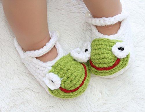 Baby Kostüm Häkel Schuhe Strickschuhe Stricksocken Babysocken Babyschuhe Frosch