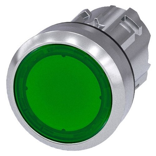 Siemens Sirius ATC Push Button 22MM RUND Metallic/A Bright Green Button Unterputz Siemens Push Button