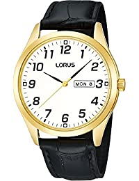 Lorus Classic Mens Watch RJ648AX9 - White Dial - Black Strap