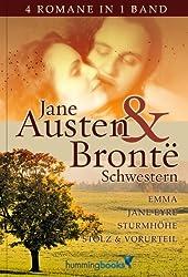 Die Jane Austen & Geschwister Brontë Collection (Stolz und Vorurteil, Jane Eyre, Emma, Sturmhöhe)