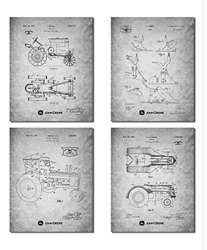 Wall Art N1 Poster John Deere Traktoren, 4 Stück, DIN A4 (21 cm x 29 cm), ungerahmt für Traktor-Liebhaber