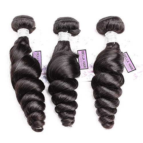 Bella Hair 100 % Cheveux Tissage Humains de Vierge Loose Wave 3 Faisceaux 20\