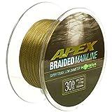 Korda Apex Braided Mainline 450m 30lb 13,60kg 0,23mm Schnur Geflochtene Schnur Braid Karpfenschnur