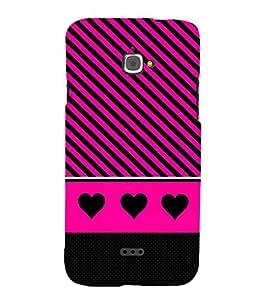 Black Heart Design 3D Hard Polycarbonate Designer Back Case Cover for InFocus Bingo 50