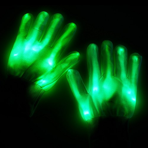guanti luminosi Lychee Guanti LED Cotton Finger Luminosi Guanti con 6 modalità di Brillanti