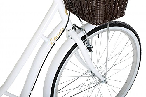 "51i6Dz%2BXpZL - Classic Heritage Ladies 26"" Wheel 7 Speed 16""£ Frame Traditional Bike Bicycle White"